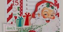 Christmas ATC's / Artist's Trading Cards In The Spirit Of Christmas
