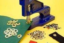 Grommet Crafting / Grommets are so fun!  They can be used for items as simple as banners and signs, or as exciting and fun as fashion or paper crafts. Get started with a grommet press and grommets from ❤ http://www.binding101.com/grommet-presses