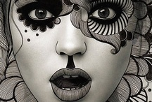 portraits / hairdrawings / by Stephanie Bothor