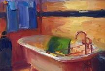 Art - Paintings of Interiors / by Janis McCarty