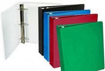 Binders, Binders, Binders / Ring binders are the most common (and dare we day, the best?) way to organize paper work, school work, recipes, planning tips and so much more! For great prices and a variety of binder options, please visit http://www.binding101.com/ring-binders