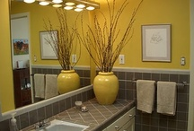 Bath Room Sets, Retired Ideas / 100 pins of Everything from wall color, to floor, to tile, to textiles
