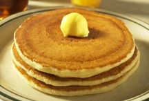 Yummy Pancakes / Our light and fluffy Pancakes are made from scratch with farm-fresh Eggs and dairy-fresh Buttermilk and prepared daily from our original 1949 recipe.