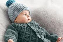 Mailles d'hiver / Inspirations pour des réalisation femme, enfant, bébé d'hiver.