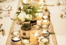 Table de fêtes / Idées pour  la décoration d'une table de fête.