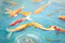 Koi / Koi fish are definitely one of my favorite subjects to paint.  Here you will find some examples of my koi paintings as well as other koi pins that are artistic.  www.kauai-artist.net