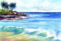 At the Beach / Going to the beach is one of my favorite activities.  Here you will find some great photos and art that will transport you to your favorite beach.  Surf's up!!!  www.kauai-artist.net
