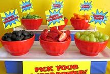 Superhero Party Ideas. / The best superhero party ideas from invitations, food to fun activities and props!