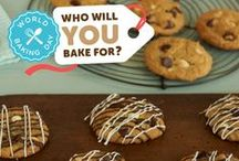 World Baking Day is May 18! / World Baking Day is just around the corner! This board is filled with recipes and tips you can use as inspiration for baking yummy cookies & cakes on World Baking Day. Who will you bake for?