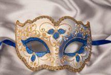 Blue Masquerade Masks / A comprehensive selection of blue masquerade masks and Venetian masks from Just Posh Masks