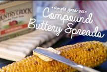 Compound Buttery Spreads / Enjoy the simple goodness of Country Crock with these flavorful spreads! Try them on steak, chicken, veggies or anywhere you'd use a compound butter. / by Country Crock