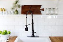 KITCHENS / Ideas and Inspiration for Kitchens: Cabinetry, Counter Tops, Hardware, Lighting, Tile, Wood, Marble, Granite, Fixtures, Appliances