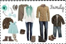 Wardrobe inspiration / Some inspiration on what to wear for family photoshoots.
