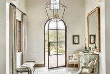 FOYERS & ENTRYWAYS / Ideas and Inspiration For the Foyer or Entryway: Doors, Flooring, Rugs, Console Tables, Mirrors, and Decor