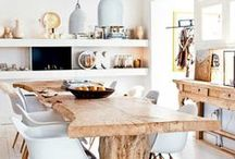 DINING SPACES / Ideas and Inspiration for Dining Spaces: Tables, Chairs, Buffets, Cabinets, Rugs, Lighting