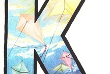 Letter Kk is for Kite, and... / Printable pages and activities for learning the letter K.