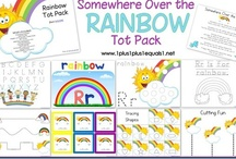 Letter Rr is for Rainbow, and... / This is a great unit for the spring and rainy season, however these pins also contain Rainforest and other themes for learning the letter R in addition to Rainbow.
