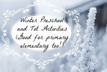 Winter School Activities / Ideas for learning about the winter theme. From penguins to snowmen, letter Pp and Ss and more! There are even some Disney Frozen treasures here... Preschool, PreK, Kindergarten, First Grade, and even Second Grade activites are available.
