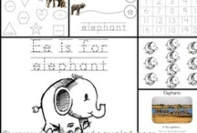 Letter Ee is for Elephant, and... / Printable pages for learning the letter E for preschool and the elementary student.