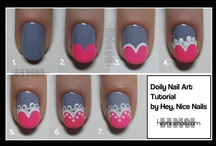 Nail Tutorials & Tips / A great collections of Tutorials and Tips for Nail Art and Nail Design; as well as How To's for Manicures and Pedicures... Nail Polish, Nail Ideas, Nail Painting, Mani, Pedi