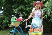 Fashionably Riding Bikes / Riding bikes doesn't always mean tennis shoes and sportswear....
