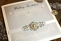 Wedding Stationery DIY Creations / Here's a board to showcase some designs for DIY wedding stationery. Things from invitations to guest books with lots of colour and sparkle, you can use these products to make these beautiful creations.