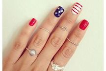 Memorial Day, 4th of July & Labor Day Nail Art / by Jackie Bray