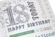 'Diamond Days' - Landmark Birthdays and Anniversaries range  with stick on glitter Diamanté Numbers / A sparkling range to celebrate landmark birthdays and anniversaries for men and women. On spotted embossed board with silver diamond glittery numbers.  Each card is 155mm square, comes with a silver envelope and is individually cello wrapped.