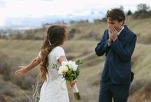 First Look / We love these special moments captured of the groom seeing his bride for the first time!