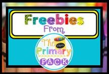 The Primary Pack Freebies {The Primary Pack} / Freebies from the teachers of 'The Primary Pack'! Get some great freebies to use in your classroom or at home with your own kids. Educational and organizational ideas!