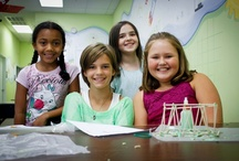 Civil Engineering / Have you ever wondered how bridges with enormous spans can stand hundreds of feet above land or water? In this camp, students will design, build, and test their own balsawood bridges as a way to study structural loads. Students will also have the opportunity to design and build their own skyscraper and put it to the test on our earthquake simulator! Designing building structures is another component of this program, as students will get the chance to build their own model geodesic dome and funct