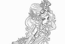 Coloring Pages / Coloring Pages and Clip Art that can be used for collage or art journals or just for fun.