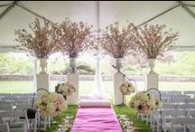 Weddings: Ceremony / Wedding ceremony elements, including altar ideas and exits like bubbles, flower seeds and confetti! Not your typical rice toss!