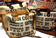 Creative use of coffee bags (jute)