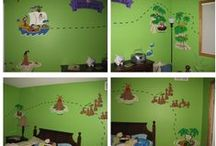 Ahoy Ye Matey!! / Adorable Pirate murals.