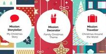 Mission: Christmas Theme / Welcome to Red Paper Plane's theme board for Christmas edition Missions! Take a look at our selection to enrich you experience. Christmas around the world, Storytelling, Christmas decoration ideas, Family Christmas theme, Family fun activities, Design thinking for preschool, Creative challenges for kids, Engaging learning experience.