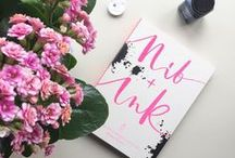 Nib + Ink Book / Learn modern calligraphy with this beautiful immersive guide book. Our fave pics from instagram and our book in the wild. Written by Chiara Perano founder of Lamplighter, published by Ebury, Penguin Random House March 2016. #nibandinkbook