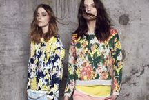 Printed Fashion Fabric / Beautiful examples of prints being used and combined for fashion