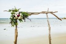 Aisle. / Wedding ceremony aisle and backdrops.