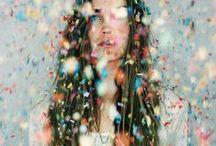 Confetti. / Celebratory explosions of colour.