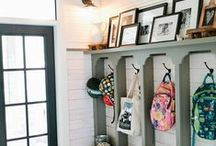 Mudroom / Design ideas for a mudroom for a large family. Hoping to add one to the basement when we finally get around to finishing it! This is my inspiration!