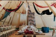 Reception. / The vows are shared, rings are on, time to feast and dance the night away. Our favourite wedding reception details and party ideas.