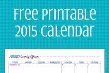 Calendar Printables / Calendar printables to help you get organized and stay organized!