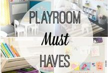Playroom / Organizing and decorating a playroom for the kids.