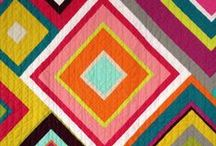 Thoroughly Modern Quilts / A collection of contemporary patchwork quilts that I'd rather like to snuggle under while reading a good book.