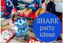 Shark Party / Hosting a Shark Birthday Party or Shark Week Party? Here are some great ideas for the Shark Theme!
