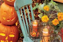 HALLOWEEN & FALL {my FAVORITEST season of all!} / all things fall! colors, crafts, photos, ideas, decor, recipes, halloween, thanksgiving...inspiration. / by Carey Cannon