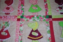 Applique Classes including Sun Bonnet Sue, Bunny, and Heart blocks / Learn to create lovely quilt blocks, pillows and pictures using applique. In our Sun Bonnet Applique class make one decorative block with blanket binding applique. In the applique Bunny and Heart class use a variety of decorative stitches to create your unique applique block. Add blocks and borders to construct an entire quilt as you have time. Call 410-543-1212 to enroll at Jenny's Sewing Studio
