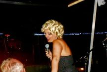 PARTY: HIS 70th BIRTHDAY SONG FROM MARILYN MONROE / Look-a-like Sarah sang for the big D on his birthday!  The look on his face - priceless!