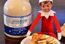 """HOLIDAYS: CHRISTMAS ELF ON THE SHELF / We love """"Elf on the Shelf"""".  He sends us clues on where he is hiding on iMessage every day in December."""